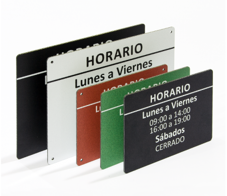MAXIMPRESION PLACA DE HORARIO