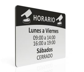 MAXIMPRESION PLACA DE HORARIO PARA CARNICERIA
