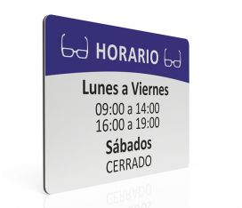 MAXIMPRESION PLACA DE HORARIO PARA OPTICA